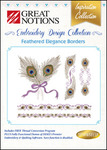 Great Notions Inspiration Collection Feathered Elegance Borders Multiformat Embroidery Design CD