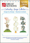 Great Notions Image by Design Stacked Animals Licenced Embroidery CD