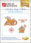 Great Notions Inspiration Collection Christmas Confections Multiformat Embroidery Design CD