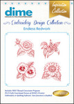 Dime Inspiration #9 Collection Endless Redwork  Multiformat Embroidery Designs Download
