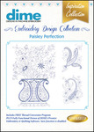 Dime Inspiration #14 Collection Paisley Perfection Multiformat Embroidery Designs Download