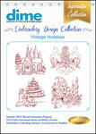 Dime Inspiration #19 Collection Vintage Holidays Multiformat Embroidery Designs Download