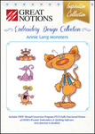 Great Notions Inspiration Collection Annie Lang Monsters Licenced Multiformat Embroidery Design CD