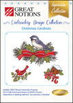 Great Notions Inspiration Collection Christmas Cardinals Licenced Multiformat Embroidery Design CD