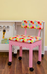 Arrow 6015 Gingerbread Trim Pink Chair, Riley Blake Fabric Hexi Motif