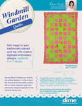 "SHQWG1 Windmill Gardens 42.5x64.5"" Quilt Designs CD Blocks, Borders, Sash, Cornerstone"