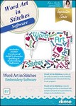 Word Art in Stitches | Dime Pure Inspiration