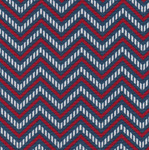 Fabric Finders 15 Yd Bolt 9.33 A Yd 1395 Red/Blue Chevron 100% Pima Cotton Fabric 60 inch
