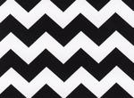 Fabric Finders 15 Yd Bolt 9.33 A Yd 1595 Black Chevron 100% Pima Cotton Fabric 60 inch
