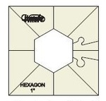 "Westalee WT-SH1x2 Simple Hexagon Template 1""x2"""