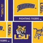 "Louisana State University LSU-097 Fabric 100% Cotton Fabric 45"" Widenohtin"