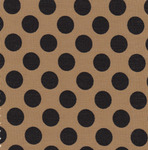 Black and Bronze Fabric, Dot Fabric, Print Fabric, Fabric Finders FF1478 Black Dots on Gold 15 Yd Bolt 9.34 A Yd 100% Cotton 60""