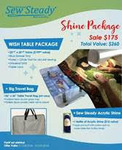 "80336: Sew Steady SST-Wish Shine 22.5x25.5"" Wish Extension Table +26x26"" Travel Bag"