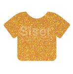 """Siser Glitter HTV Heat Transfer Vinyl Sheet- Translucent Orange 12x20"""""""