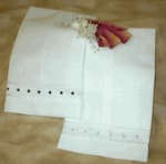 Ecru Swiss Dot Guest Towel