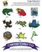 Great Notions 1119 Frogs I Embroidery Multi-Formatted CD