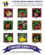 Great Notions 1120 Fruit and Veggie Squares I Embroidery Multi-Formatted
