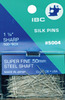 Ibc-5004 IBC Super Fine Silk Straight Pins 500ct, 1-1/4'' Stainless Steel Japan