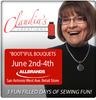 Claudias Creations Boot'iful Bouquets, Quilting, Redwork June 2-4, 2016, 10AM-4PM West Avenue Retail Store San Antonio TX