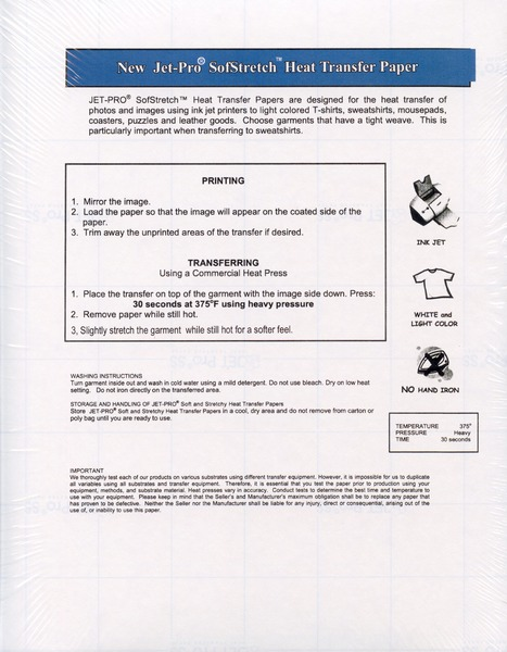 Epson Transfer Paper Instructions