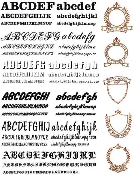 Brother sa no alphabet lettering fonts embroidery
