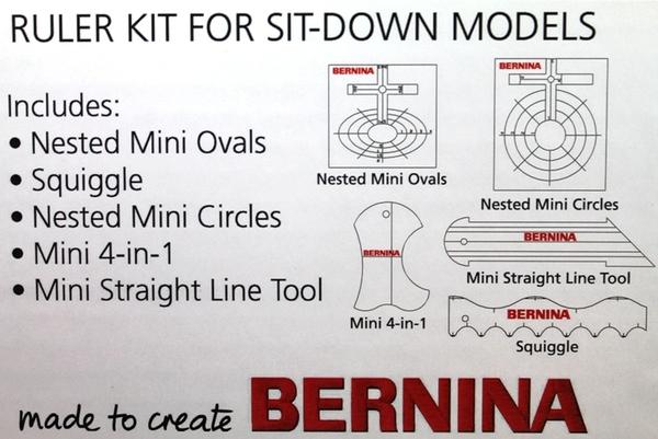Bernina Brksd5 Of 1 4 Quot Ruler Templates Kit For Foot 72 Or