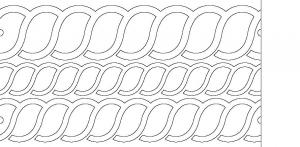 Quilt ez long arm quilting design templates choose from 20 styles long arm ropes template has 3 rope patterns included at 5 4 and 3 pronofoot35fo Images