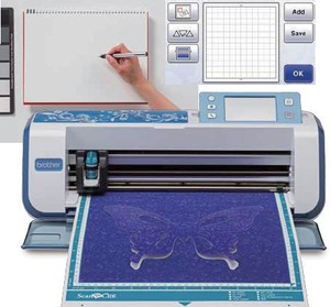 brother demo scanncut cm550dx 12 digital scanner cutter blue new low price at. Black Bedroom Furniture Sets. Home Design Ideas