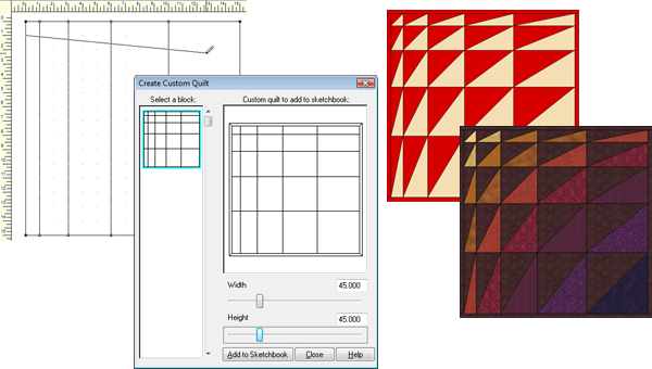 create quilt from block