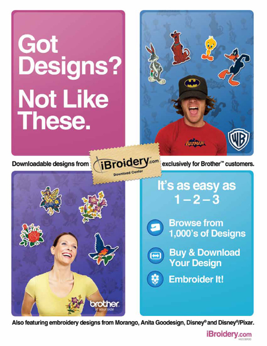 Brother Disney Nickelodeon Embroidery Memory Cards