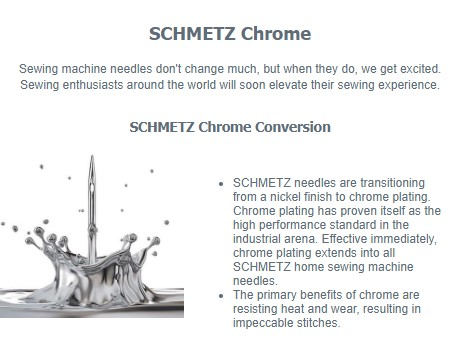 Schmetz 2021 Chrome Announcement