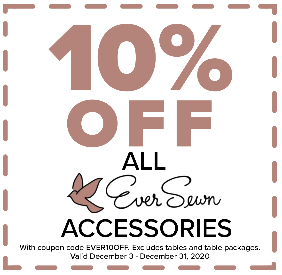 EverSewn 10% off all accessories