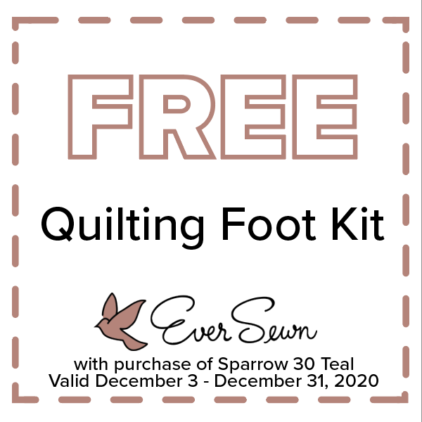 EverSewn free quilting foot kit
