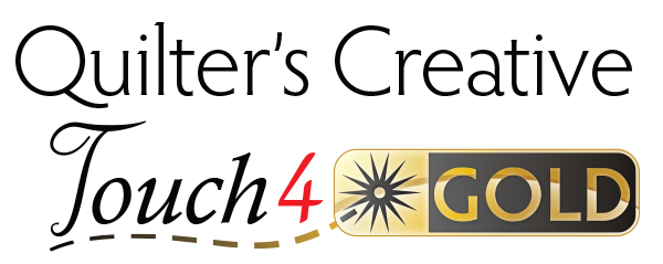 Quilters Creative Touch QCT4 Gold Logo