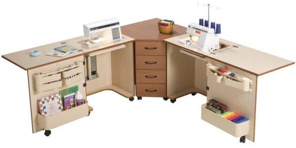Serger sewing machine cabinets mf cabinets for Aman kitchen cabinets brampton