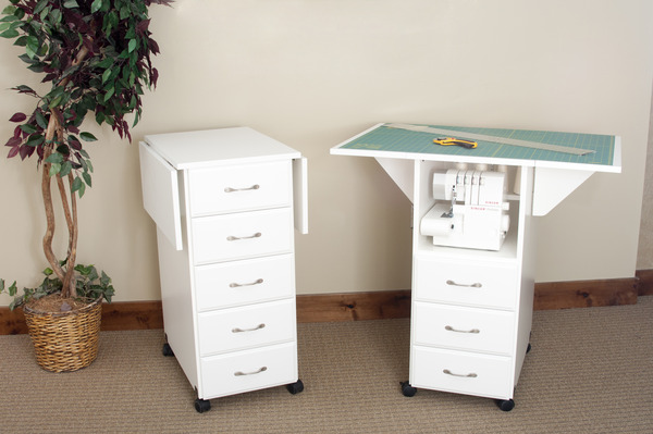 Fold Down Roll Away Craft Table Crafting