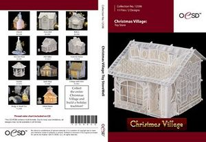 79819: OESD 12598CD Christmas Village Toy Store Embroidery Designs CD