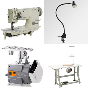 """Reliable, 4400TW, 1/4"""" Double Needle, Walking Foot, Needle Feed, Safety Clutch, Big M Bobbin, Industrial Sewing Machine, Assembled Stand, 100 Needes!,"""