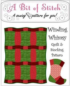 A Bit of Stitch 1004-WIWHIMSY Winding Whimsy Quilt & Stocking Pattern