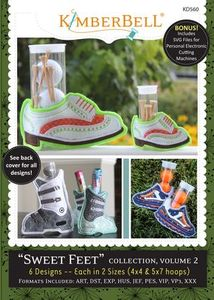 90969: Kimberbell KD560 Sweet Feet Collection Volume 2 Embroidery Designs