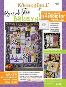 KimberBell KD804 Broomhilda's Bakery Machine Embroidery CD and Color Booklet