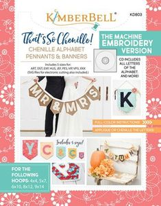 KimberBell KD803 Thats so Chenille - Embroidery CD and Book