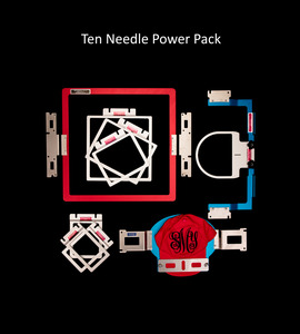 "Durkee Ten Needle Power Pack 10in1 EZ Frames Hoops Set 3/16"" Aluminum for Brother PR6 PR10 & Babylock , Durkee, Fast Frames,  ez, frames, 8, eight, in, one, 1, brother, pr6-pr1050, embroidery, dehoop"