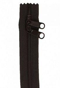 """90998: Handbag Zippers ZIP30-105 30"""" Double Slide-Black"""