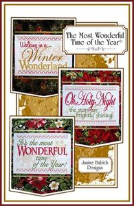 Janine Babich Designs JBDTMW, The Most Wonderful Time of the Year Embroideries CD