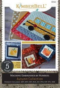 91041: Kimberbell KD563 Machine Embroider by Number: Autumn Collection In the Hoop CD