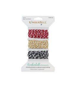 Kimberbell KDKB128 - Twine Card, Red, Black, Tan