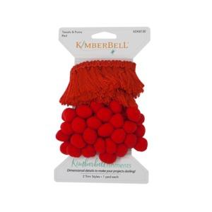 Kimberbell KDKB130 - Kimberbellishment, Tassel and Pom Pom Trim, Red