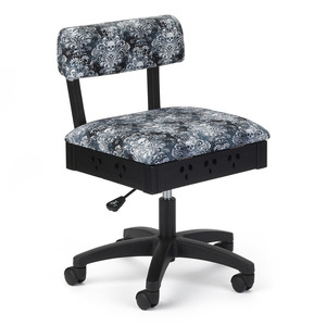 91056: Arrow H4205 Hydraulic Swivel Sewing Chair, Underseat Storage, Wicked Cosplay Chair (AKA Skull Chair)