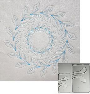 91062: Westalee WT-FLCW Circle Wreath Feathered Leaf 2pc Set